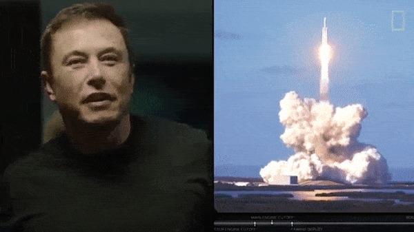 SpaceX впервые отправила к МКС новейший корабль Dragon-2 Илон Маск, Космос, Ракета, Гифка