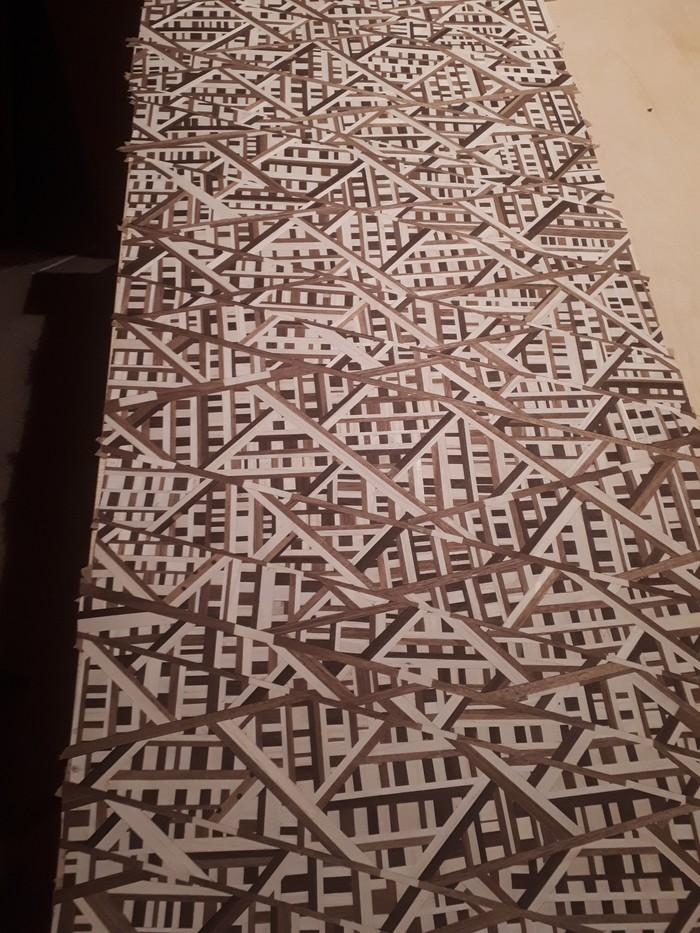 """Мозаика из шпона дерева (маркетри) геометрический набор """"МИКС"""" Маркетри, Ручная работа, Работа с деревом, Мозаика, Шпонирование, Шпон, Длиннопост"""