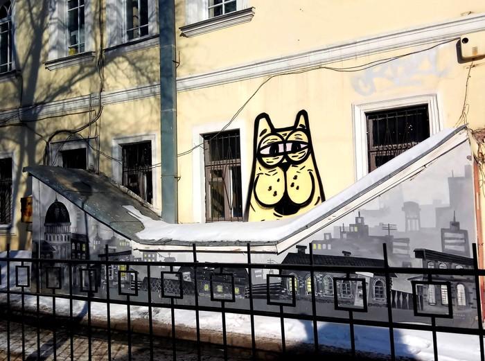 Граффити (так же как и стрит-арт) должны украшать стены, а не уродовать их #90 Уличная живопись, Граффити, Стрит-Арт, Екатеринбург, Город, Кот, Фотография
