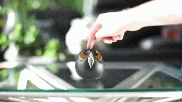 Ulo - интерактивная камера слежения для дома, которая своей формой напоминает сову. Kickstarter, Indiegogo, Гаджеты, Умный дом, Умная техника, Круто, Краудфандинг, Гифка, Длиннопост