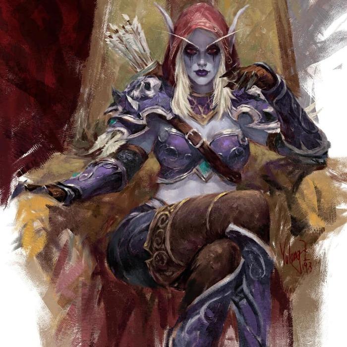 Sylvanas windrunner and jaina proudmoore by Yulong zhang World of Warcraft, Warcraft, WOW, Blizzard, Game Art, The Long Read, Сильвана Ветрокрылая, Джайна Праудмур