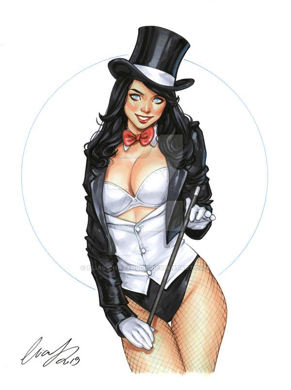 Zatanna Deviantart, Арт, Рисунок, Комиксы, DC, Zatanna, Elias-Chatzoudis