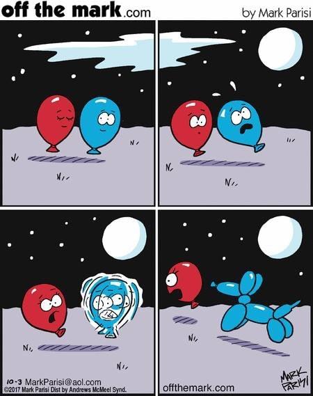 Говорили красному шарику, не ходи одна с незнакомцами под луной