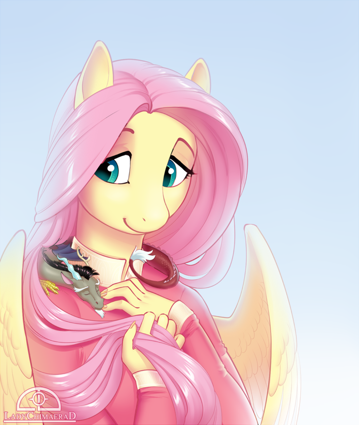 My Little Chaos My Little Pony, Fluttershy, MLP Discord, Антро, Ladychimaera, Ponyart