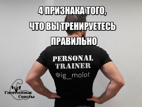 4 признака того, что вы тренируетесь правильно Спорт, Тренер, Спортивные советы, Тренировка, Сила, Мышцы, Качалка, ЗОЖ, Длиннопост