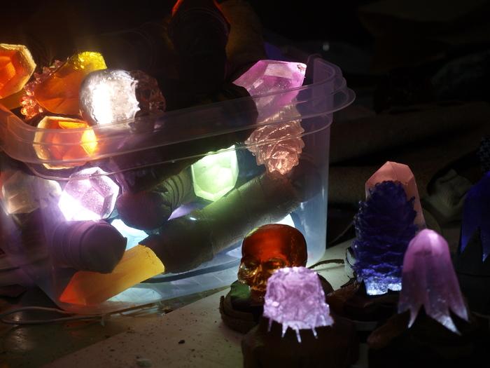 Коробка волшебных фонариков Кай Йара, Фонарик, Кристаллы, Череп, Фэнтези, Антураж для РИ, Свет, Световой меч, Длиннопост