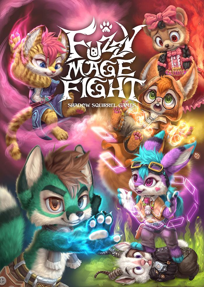 Fuzzy Mage Fight Silverfox5213, Фурри, Арт, Магия