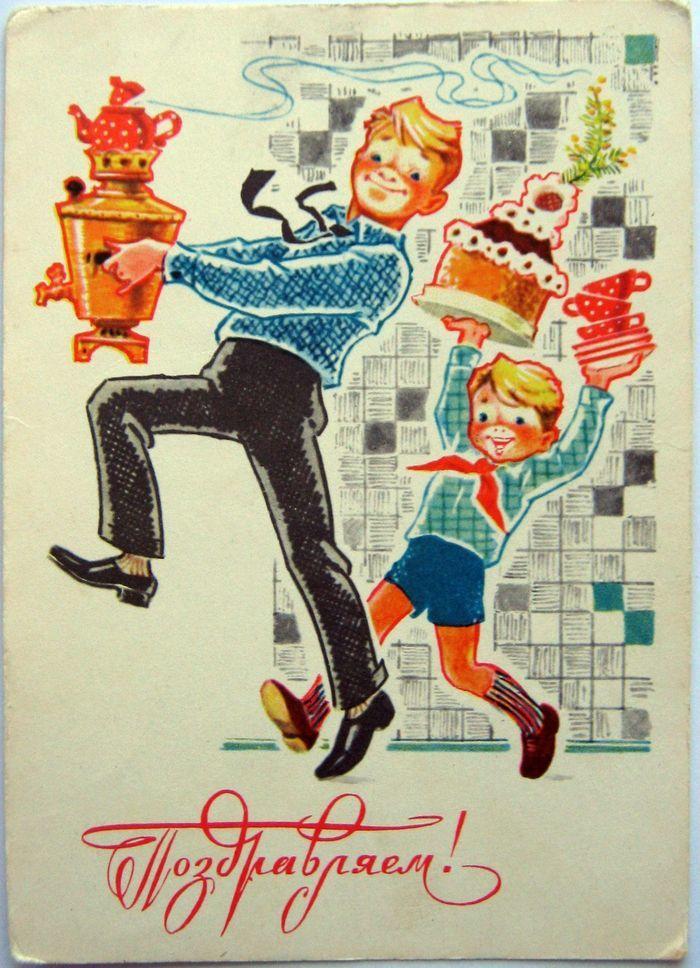 К наступающему празднику - открытки из моей коллекции. СССР, Открытка, Детство, 8 марта, Весна, Длиннопост, Ностальгия