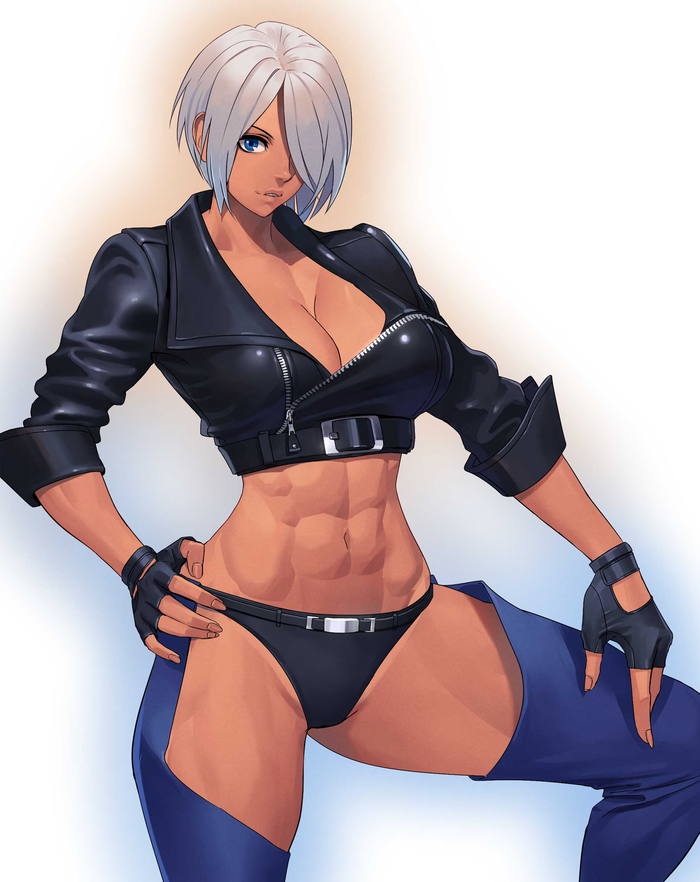 Angel Ogami, Арт, Крепкая девушка, King of Fighters, Аниме, Anime Art, Фитоняшка, Длиннопост
