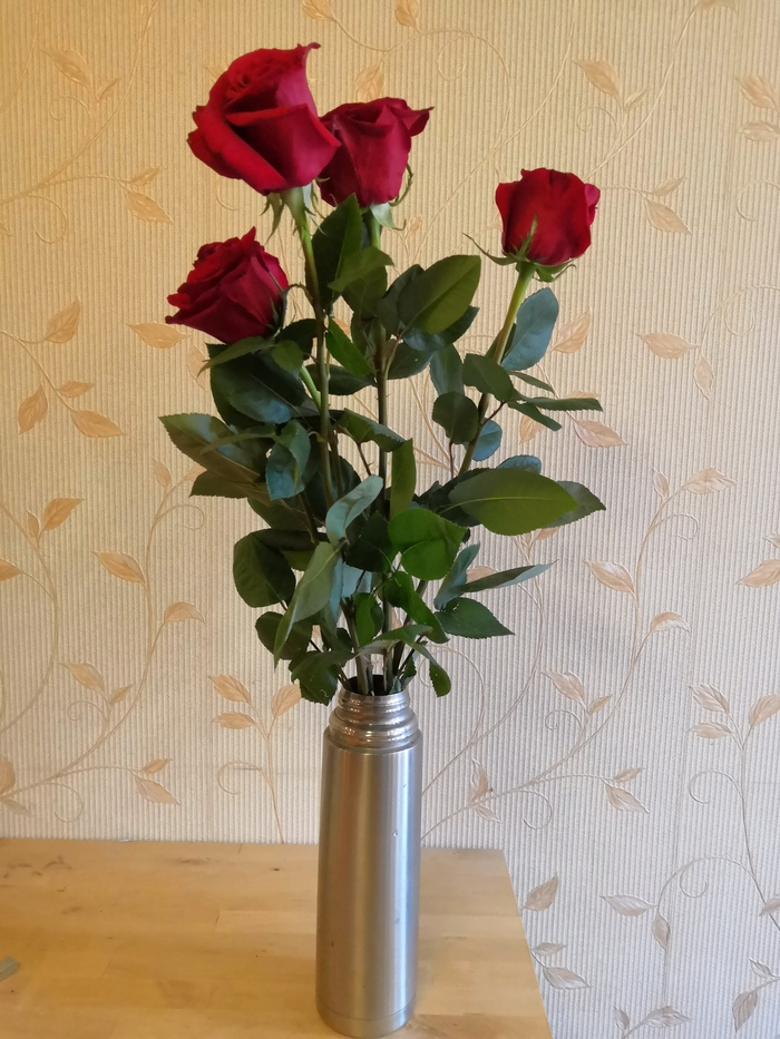 Термос вместо вазы Цветы, Термос, Лайфхак, Без рейтинга