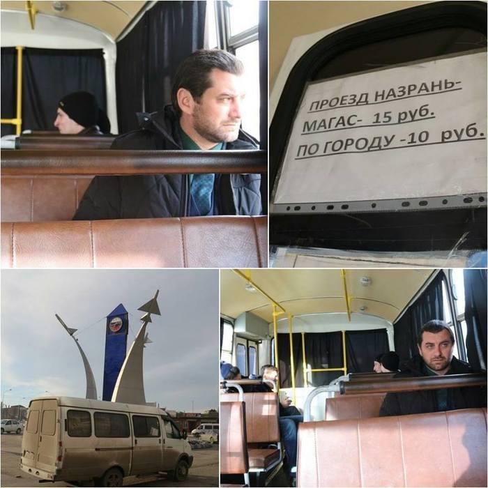 Мэр столицы Ингушетии проехался в общественном транспорте Магас, Ингушетия, Цечоев