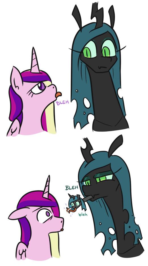 Чужалис My Little Pony, Princess Cadance, Queen Chrysalis, Jargon Scott, Комиксы