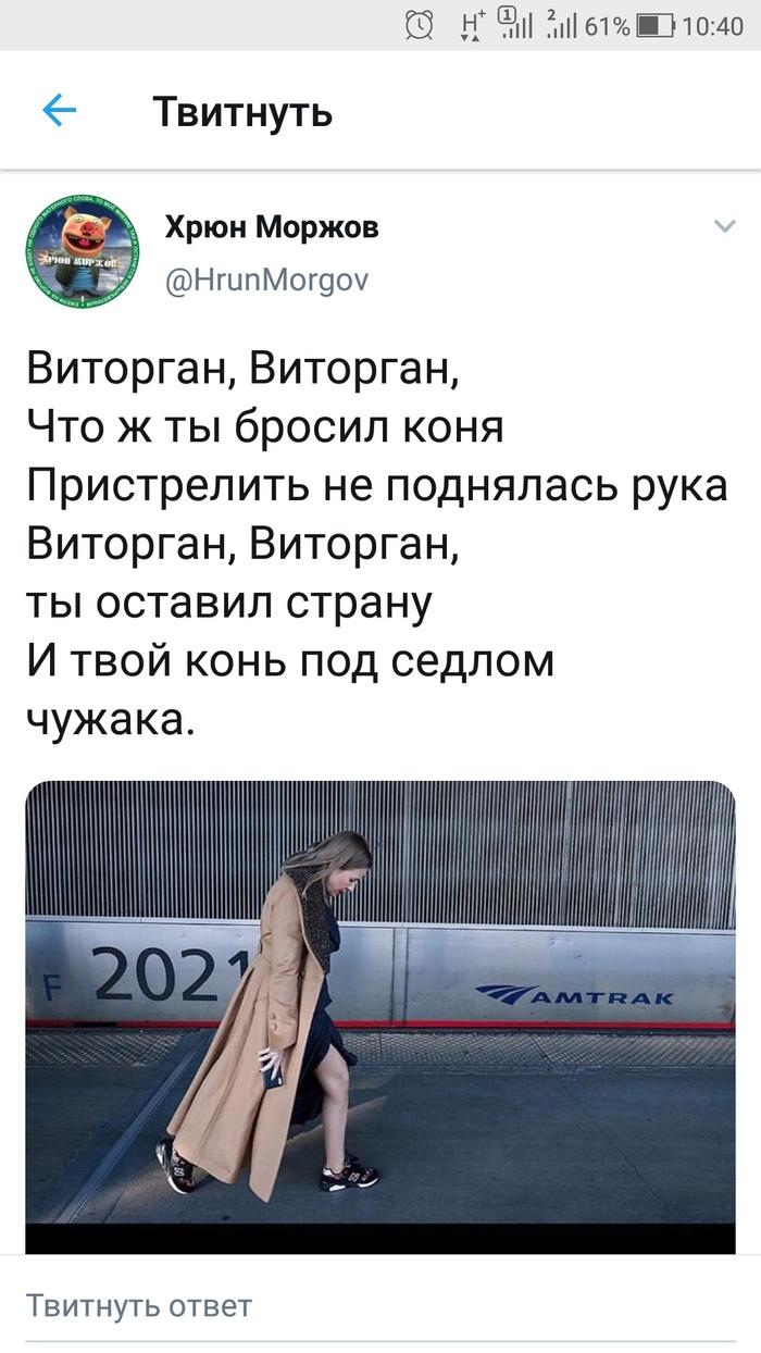Современный есаул Twitter, Собчак, Витроган, Скриншот