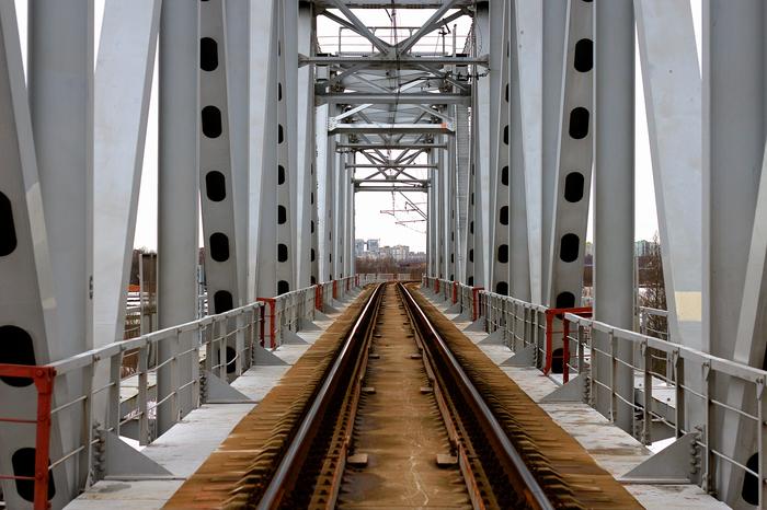 Мост в Обухово Мост, Санкт-Петербург, Железная Дорога, Ленинград, Заброс