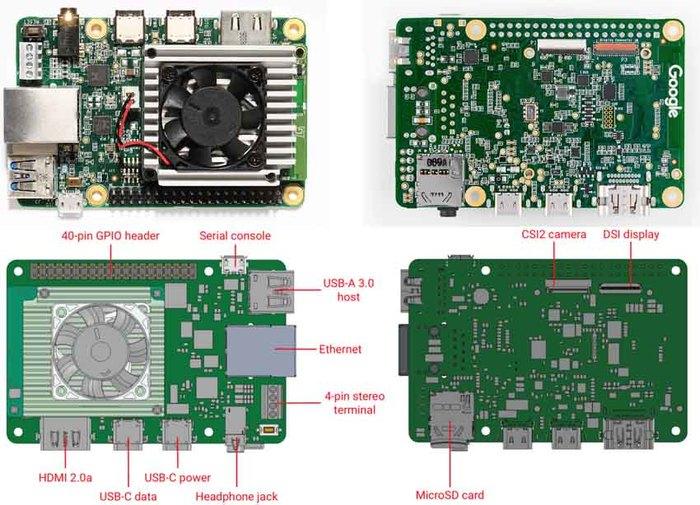 Google представила миникомпьютер для машинного обучения за $150 Google Coral, Google, Одноплатный компьютер, Длиннопост