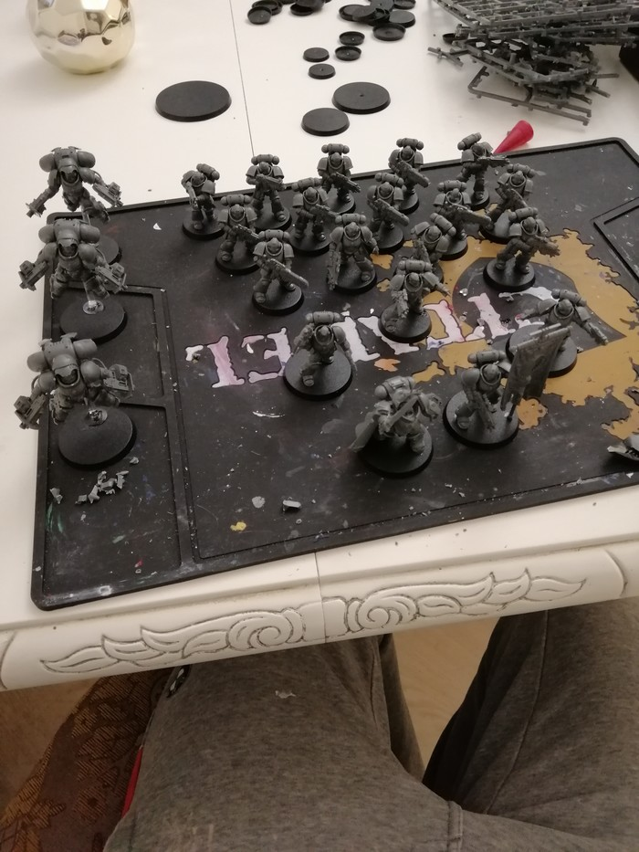 Набор Dark Imperium, подготовка к покрасу Warhammer 40k, Миниатюра, Primaris Space Marines, Death Guard, Длиннопост, Wh painting, Покраска миниатюр