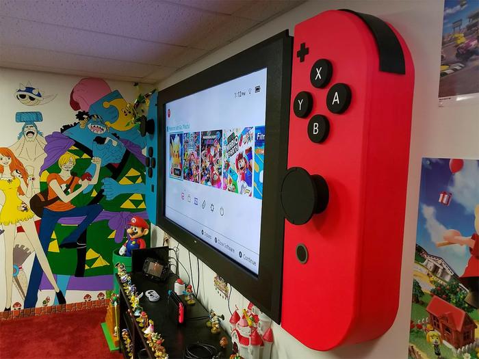 "Фанат сделал из 65"" телевизора гигантский Nintendo Switch Nintendo, Nintendo Switch, Игры, Фанаты, Консоли, Длиннопост"