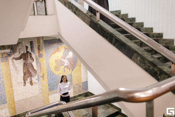 Замена витража на здании Ставрополького дворца детского творчества Активисты, Архитектура, Искусство, Витраж, Городская среда, Длиннопост