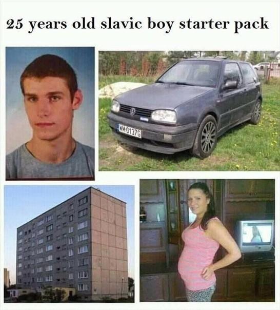 Стартовый набор 25 летнего славянского парня.