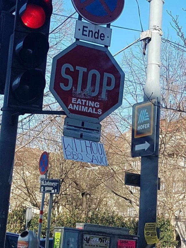 ... Вы просто не умеете их готовить. Дорожный знак, Чат, Веганы и мясоеды, Reddit
