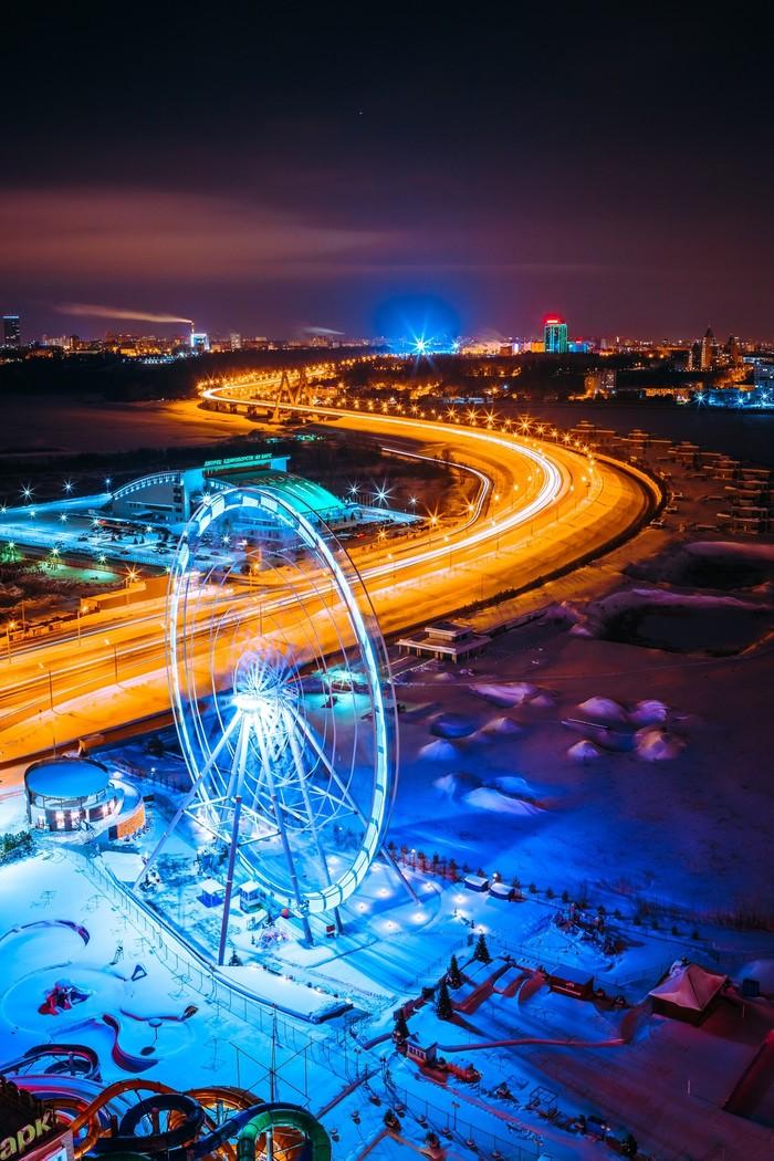 Ночная Казань Казань, Татарстан, Город, Фотография, Длиннопост