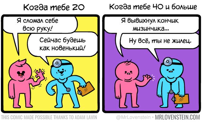 Здоровье Комиксы, Перевел сам, Mrlovenstein