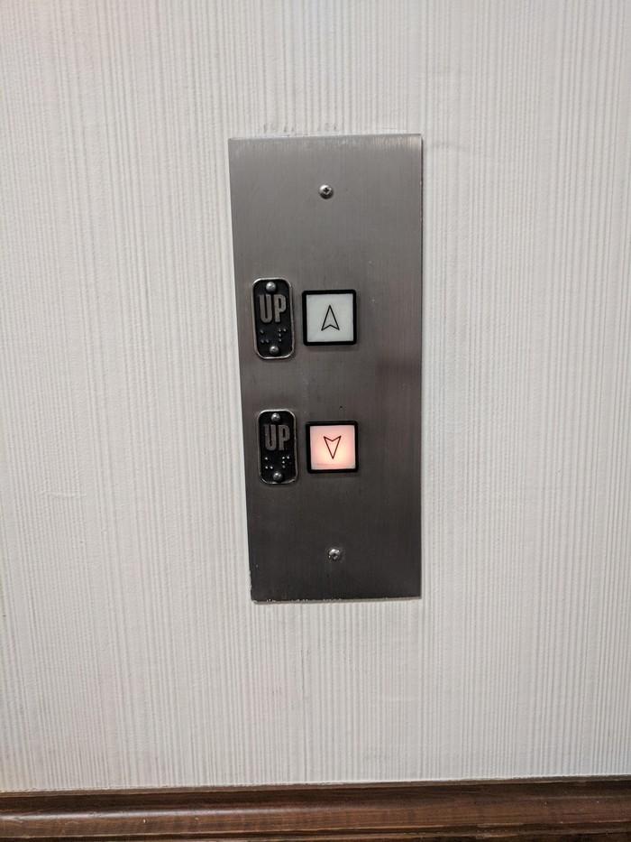 Вам наверх или наверх?