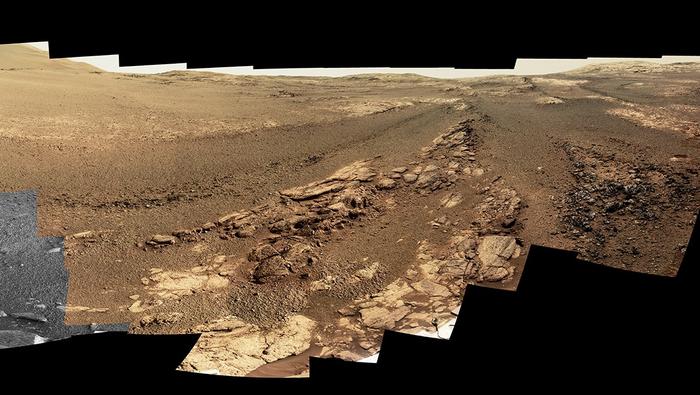 NASA опубликовало последнюю панораму «Оппортьюнити» Наука, Новости, Астрономия, Космос, Марс, Opportunity, NASA, Марсоход