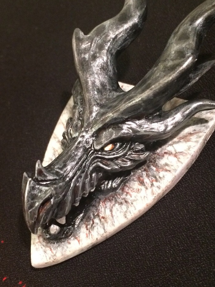 Магнит Алдуин Tes:5, Skyrim, The Elder Scrolls V: Skyrim, Алдуин, Alduin, Полимерная глина, Длиннопост, Своими руками
