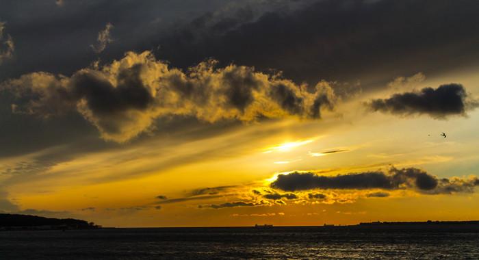 Закат над черным морем Море, Черное море, Фотография, Длиннопост, Canon