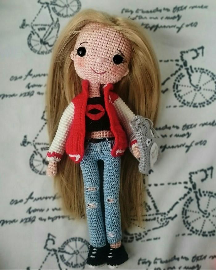 Моя первая весенняя девочка) Вязаные игрушки, Вязание крючком, Своими руками, Пятничный тег моё, Хобби, Длиннопост, Рукоделие без процесса