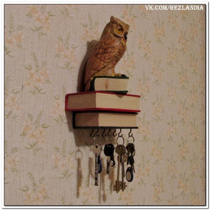 """Ключница """"филин"""". До отделки и после. Ключница сова, Резьба по дереву, Ручная работа, Handmade, Своими руками, Длиннопост"""