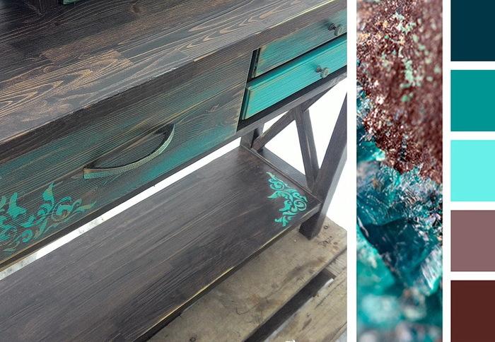 Консоль в двух цветах. Мебель из массива, Тумбочка, Консоли, Этажерка, Длиннопост