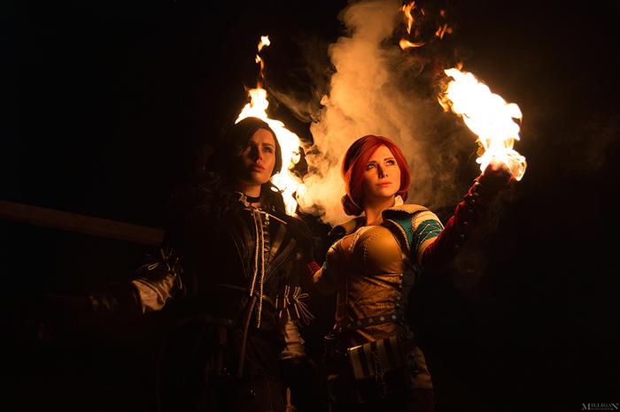 Triss  & Yennefer [ The Witcher 3 ] Косплей, Русский косплей, Косплееры, Костюм, Огонь, Длиннопост, Ведьмак, Ведьмак 3