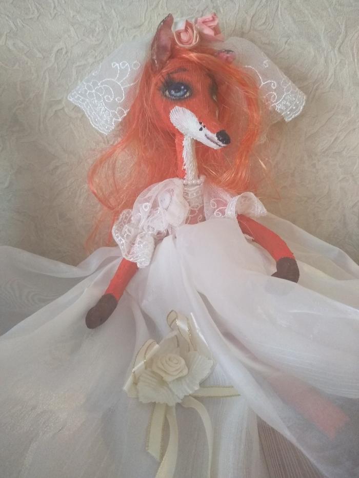 Моя коллекция кукол ручной работы.Жених и невеста.Лисы. Лиса, Ручная работа, Коллекция, Длиннопост, Своими руками