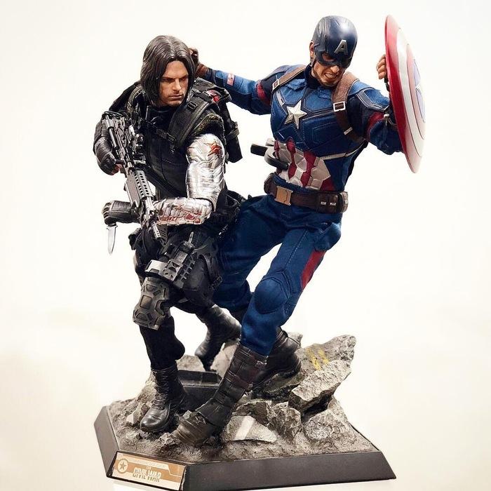 Когда есть фантазия и фигурки Hot Toys... Капитан Америка, Черная пантера, Альтрон, Железный человек, Hot toys, Длиннопост