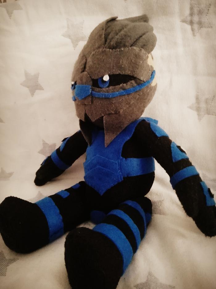 Я сплю с Гаррусом. А вы? Гаррус, Mass Effect, Мягкая игрушка, Рукоделие без процесса, Длиннопост