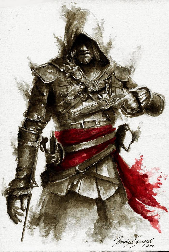 Эдвард. Assassins Creed, Assassins Creed IV: Black Flag, Эдвард Кенуэй, Компьютерные игры, Арт, Game Art, Автоваз
