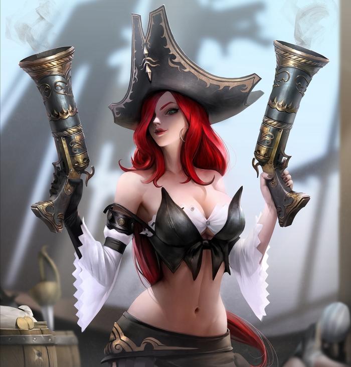Miss Fortune Арт, Рисунок, Miss Fortune, League of Legends, Игры, Компьютерные игры