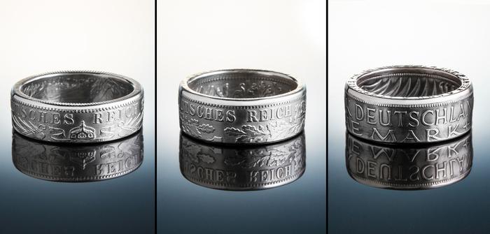 Кольца из монет Германии Длиннопост, Кольцо, Монета, Рукоделие без процесса, Украшения ручной работы, Кольцо из монеты