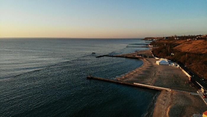 Утро, море, Одесса Дрон, Начинающий фотограф, Одесса, Черное море, Длиннопост