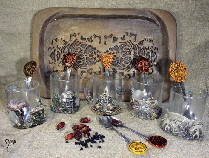 Коллекция кружек с городами Морровинда. The Elder Scrolls, Morrowind, Полимерная глина, Ручная работа, Игры, Древние свитки, Крафт, Deloto, Длиннопост