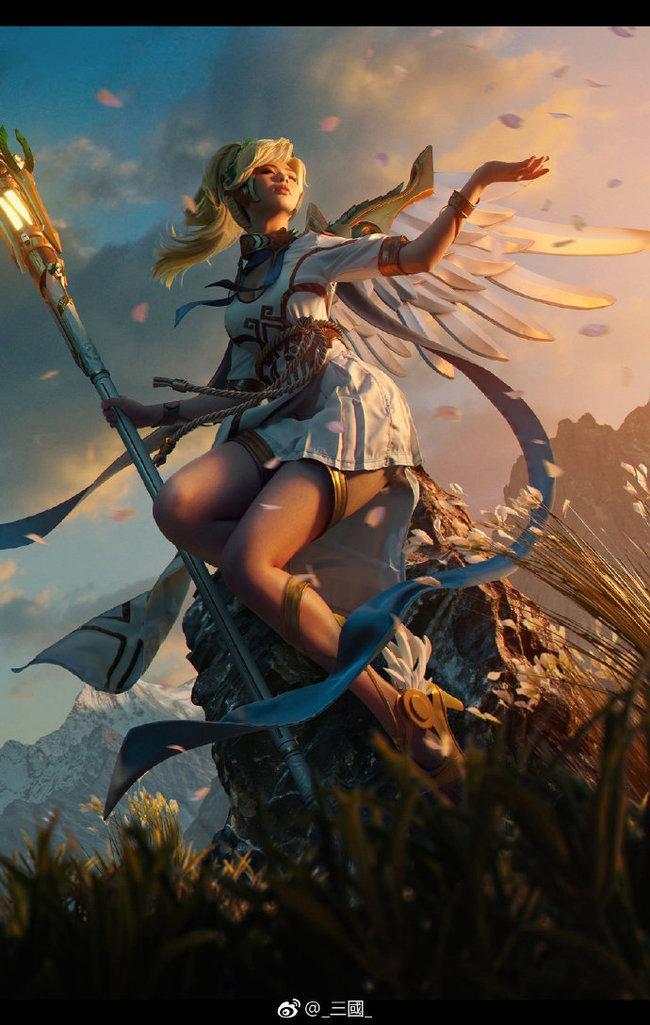 Косплей Overwatch - Ангел, Богиня победы Косплей, Overwatch, Blizzard, Азиатка, Игры, Компьютерные игры, Фотография, Фотошоп мастер, Длиннопост