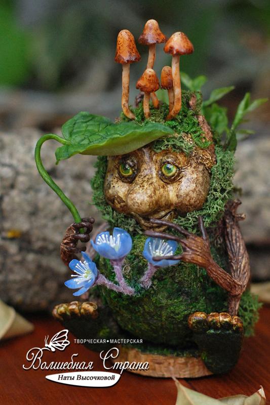 Мирамар - Хранитель первоцветов (статуэтка, полимерная глина). Полимерная глина, Рукоделие без процесса, Своими руками, Handmade, Ручная работа, Длиннопост, Весна