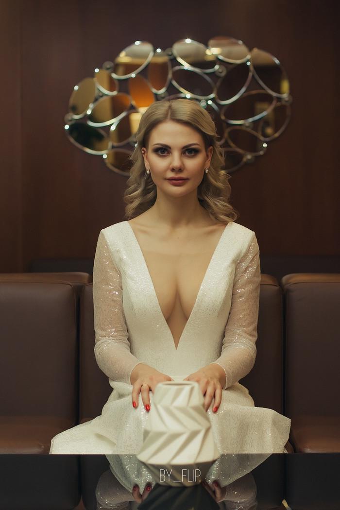 Оля. Свадебное. Портрет, Свадьба, Красивая девушка, Декольте