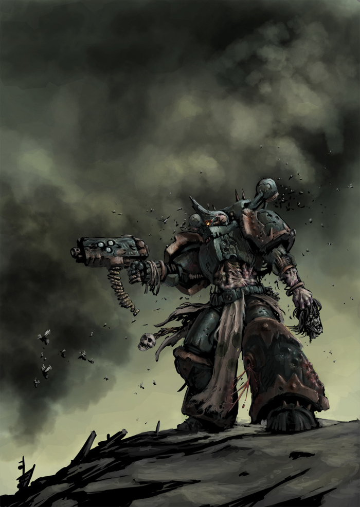 Plague marine Warhammer 40k, Нургл, Chaos Space marines, Death Guard, Wh Art