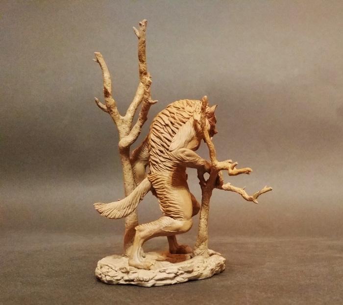 Оборотень Скульптура, Миниатюра, Полимерная глина, Оборотни, Mysculptwork, Длиннопост