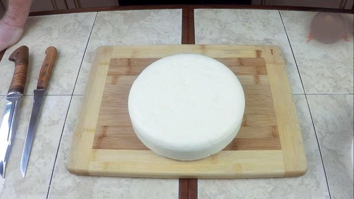 Сыр Сулугуни. По мотивам грузинского Рецепта С дедом за обедом, Сулугуни, Кулинария, Рецепт, Еда, Видео, Длиннопост, Сыр