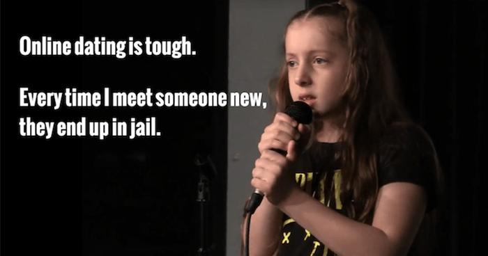 10-летняя девочка с шуточкой Stand-Up, Девочка, Дети, Знакомства, Флирт, Тюрьма, Статья, Картинка с текстом