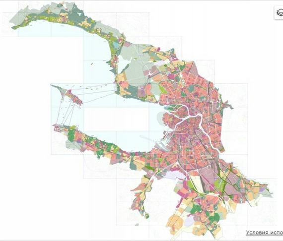 Карта похожа на птицу, которая хочет что-то съесть. Что за город?